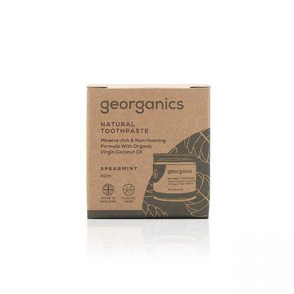 Georganics dentífrico natural con aceite de coco - hierbabuena 2